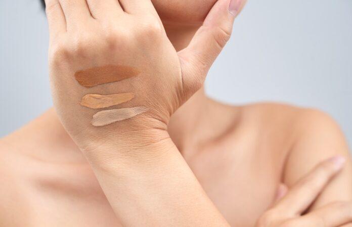 human skin and cosmetics image