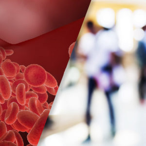 collage image of blood vessels and people